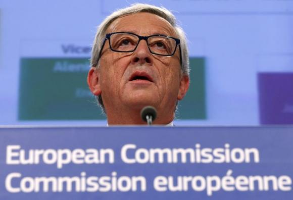 Juncker, the incoming president of the European Commission, presents the list of the European Commissioners and their jobs for the next five years, during a news conference at the EC headquarters in Brussels